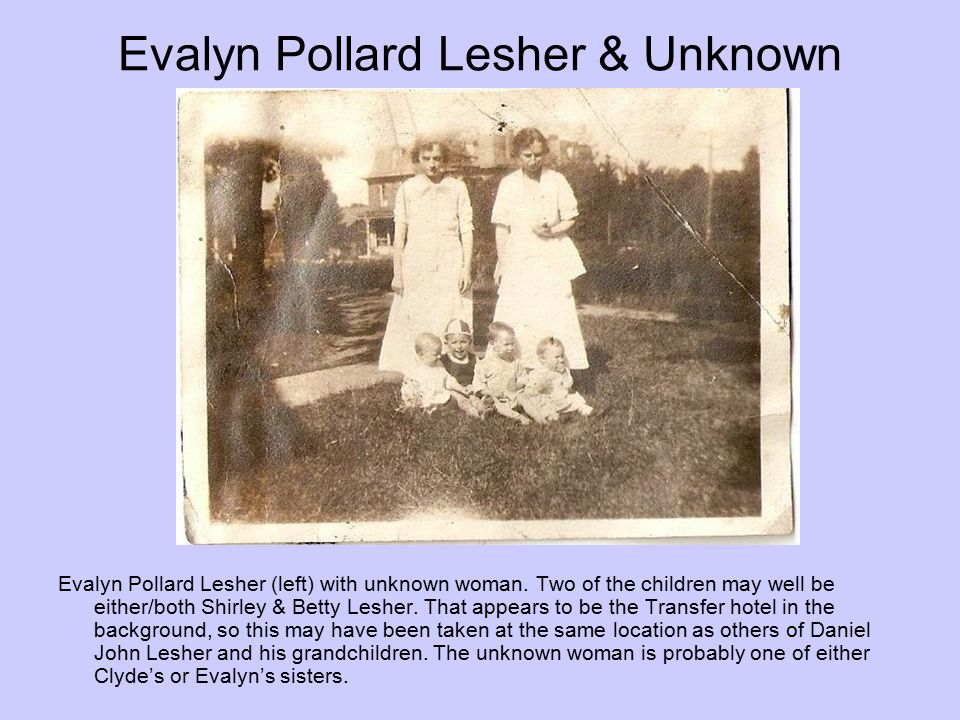 Evalyn Pollard Lesher & Unknown