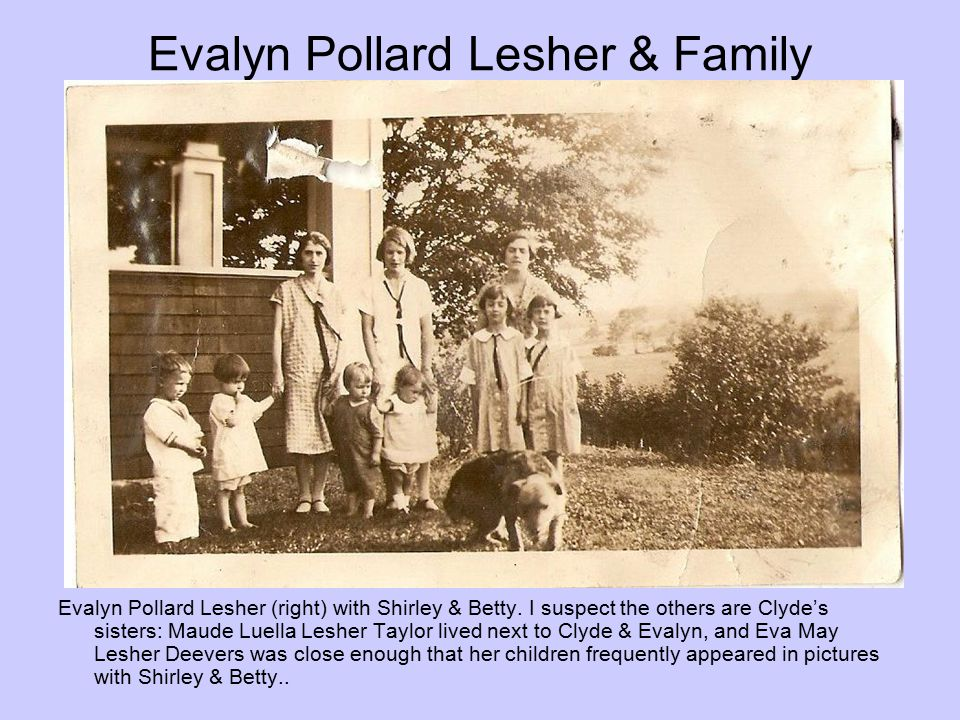 Evalyn Pollard Lesher & Family