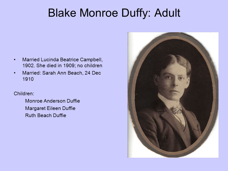 Blake Monroe Duffy: Adult