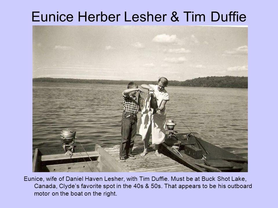 Eunice Herber Lesher & Tim Duffie