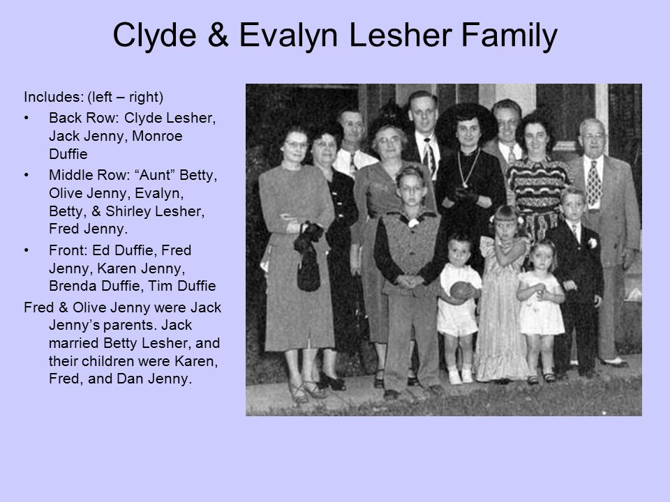 Clyde & Evalyn Lesher Family
