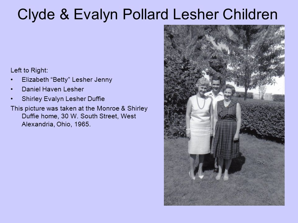 Clyde & Evalyn Pollard Lesher Children