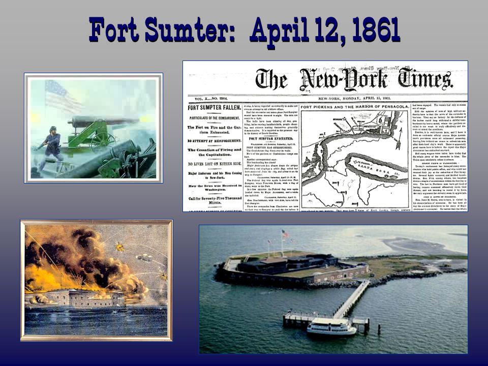 Fort Sumter: April 12, 1861