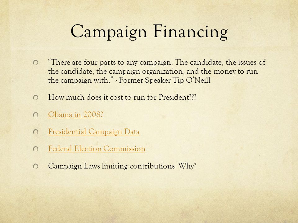 Campaign Financing