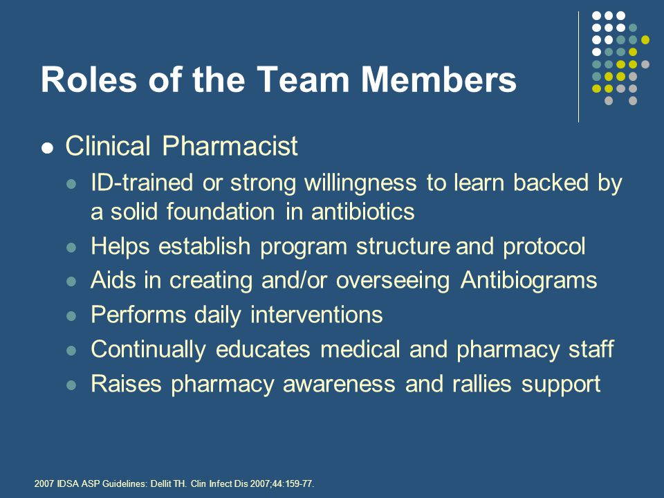 Roles of the Team Members