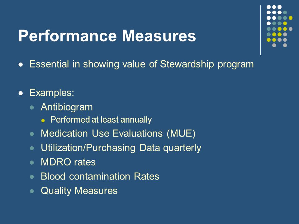 Performance Measures Essential in showing value of Stewardship program