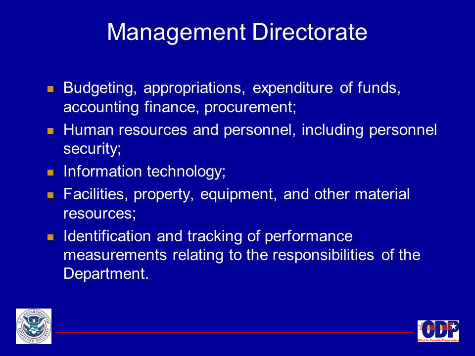 Management Directorate