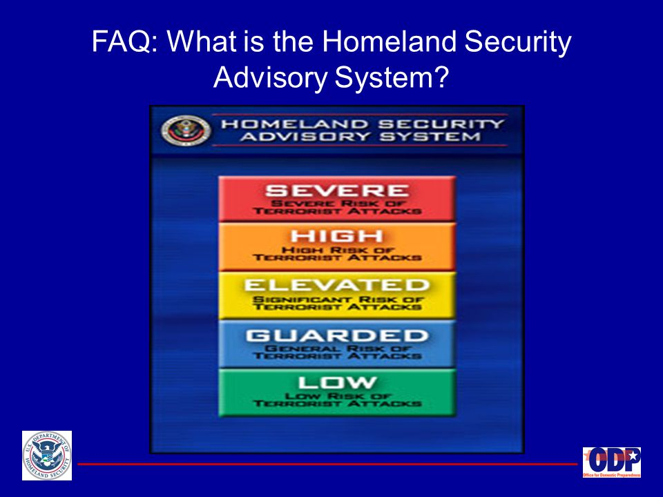 FAQ: What is the Homeland Security Advisory System