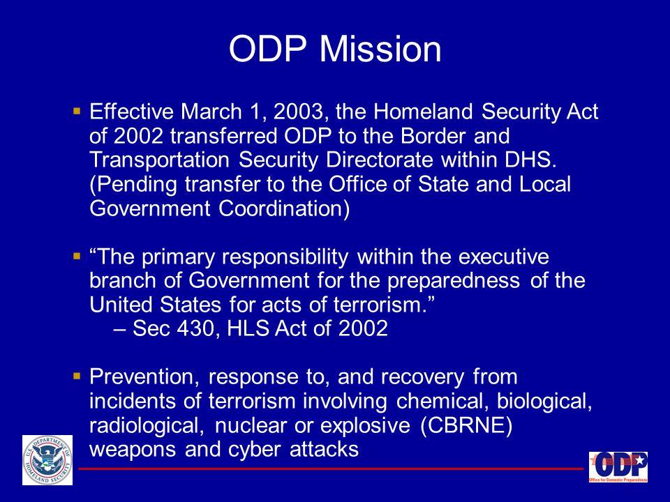 ODP Mission