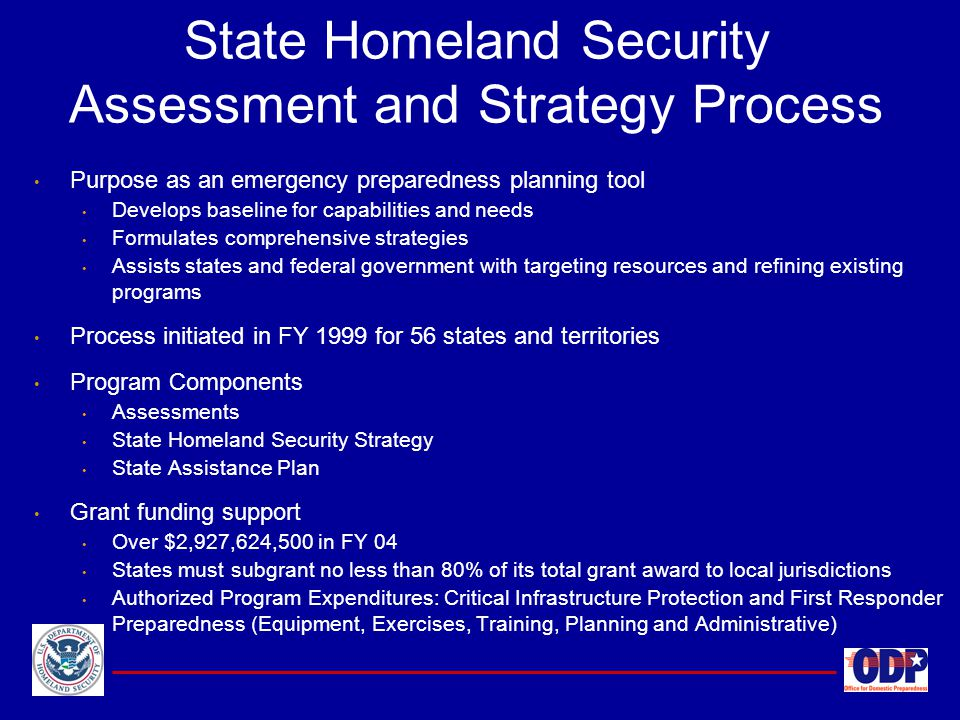 State Homeland Security Assessment and Strategy Process