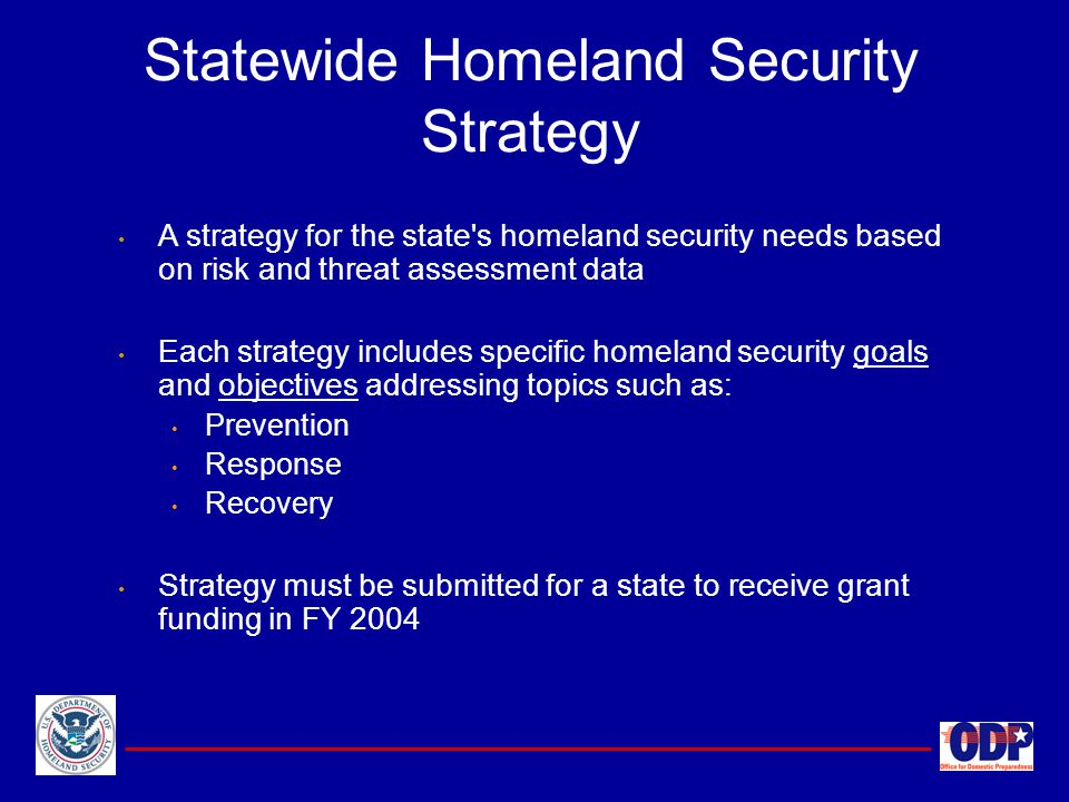 Statewide Homeland Security Strategy