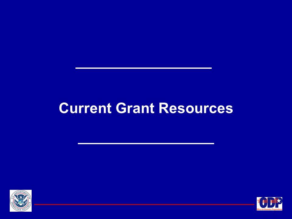Current Grant Resources