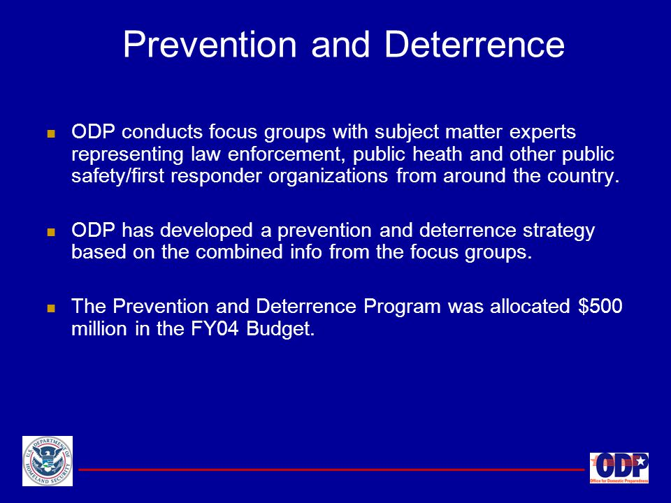 Prevention and Deterrence