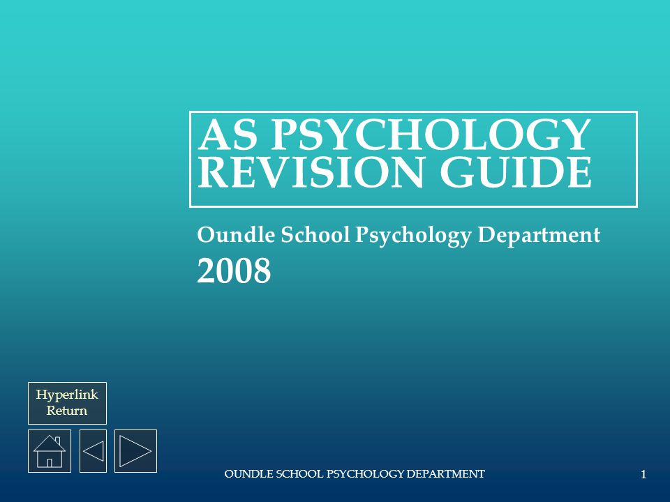 AS PSYCHOLOGY REVISION GUIDE