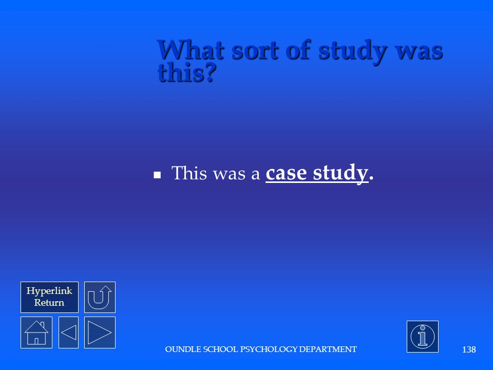 What sort of study was this