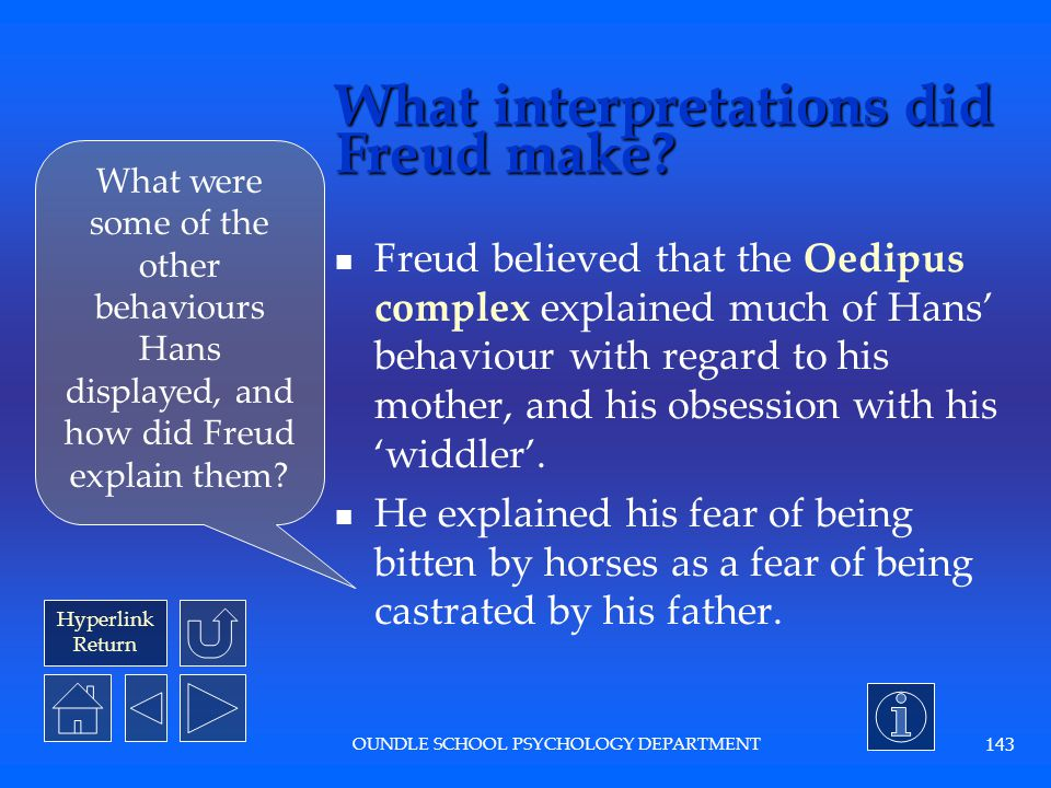 What interpretations did Freud make