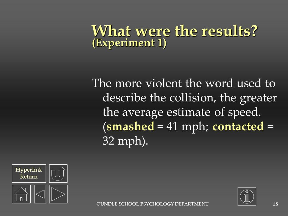 What were the results (Experiment 1)