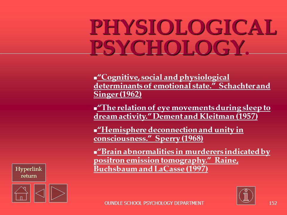 PHYSIOLOGICAL PSYCHOLOGY.