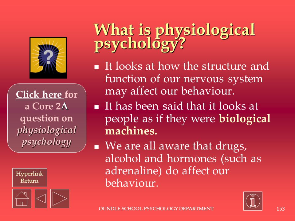 What is physiological psychology