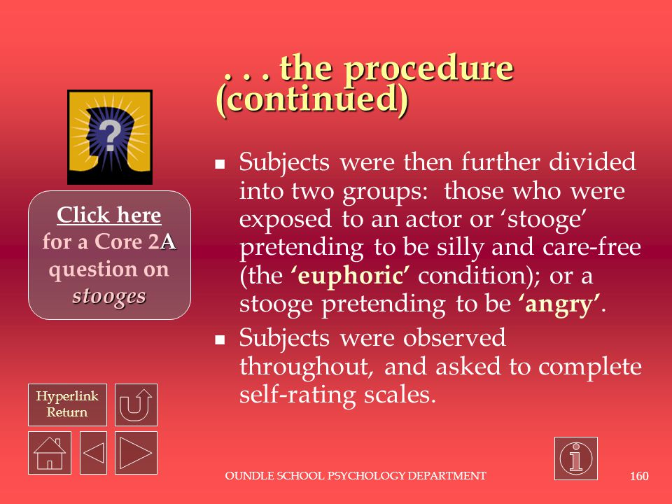 . . . the procedure (continued)