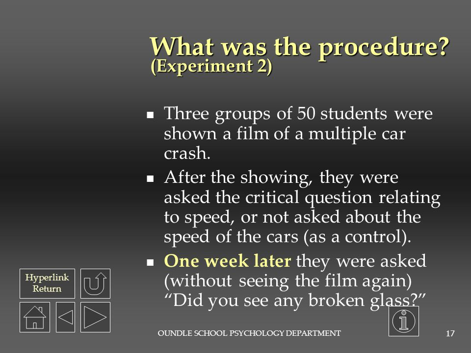 What was the procedure (Experiment 2)