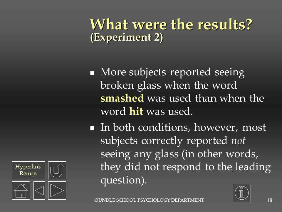 What were the results (Experiment 2)