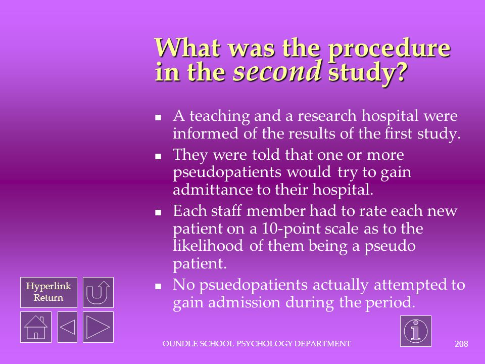 What was the procedure in the second study