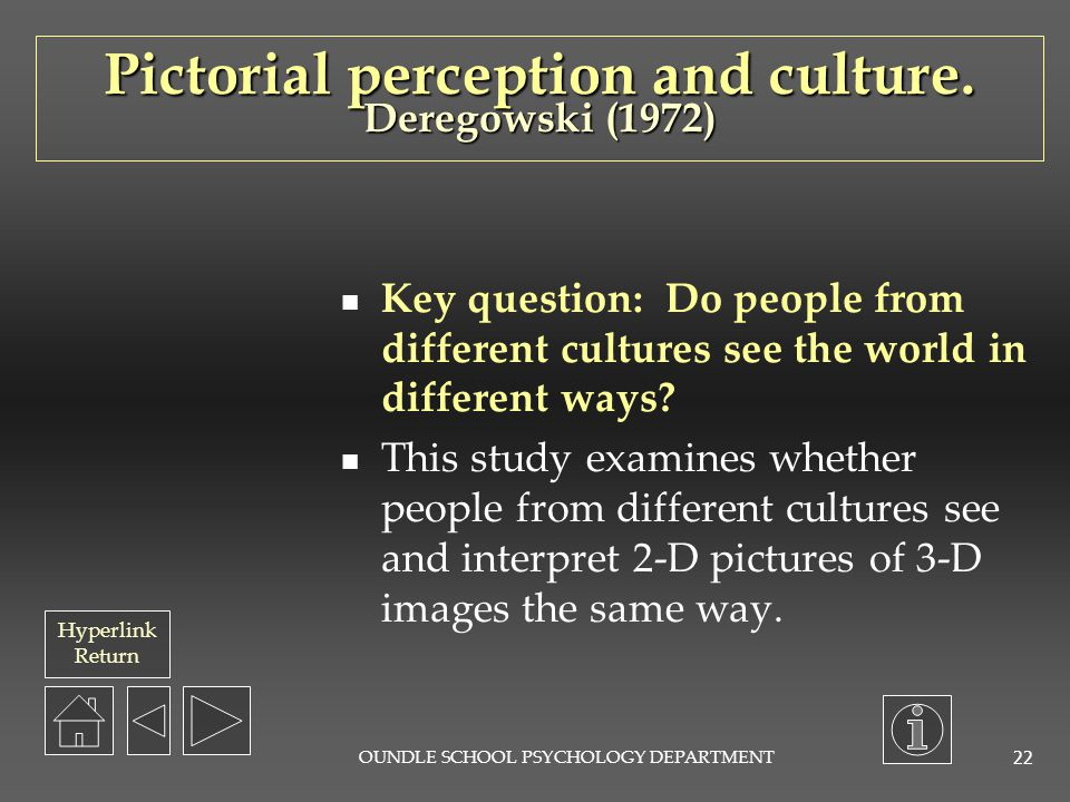 Pictorial perception and culture. Deregowski (1972)