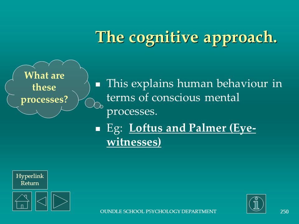 The cognitive approach.
