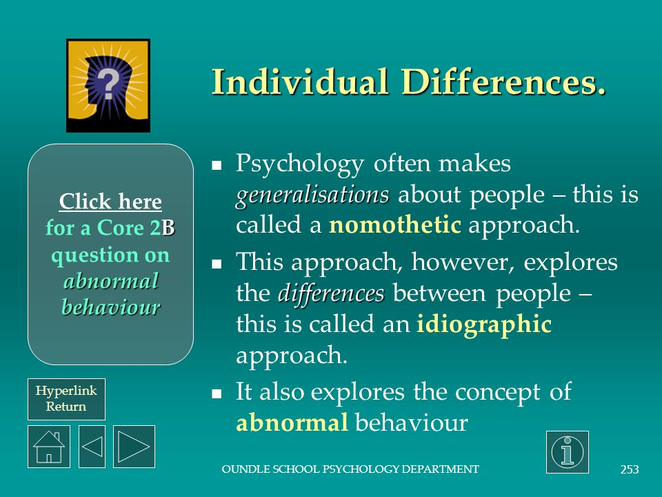 Individual Differences.