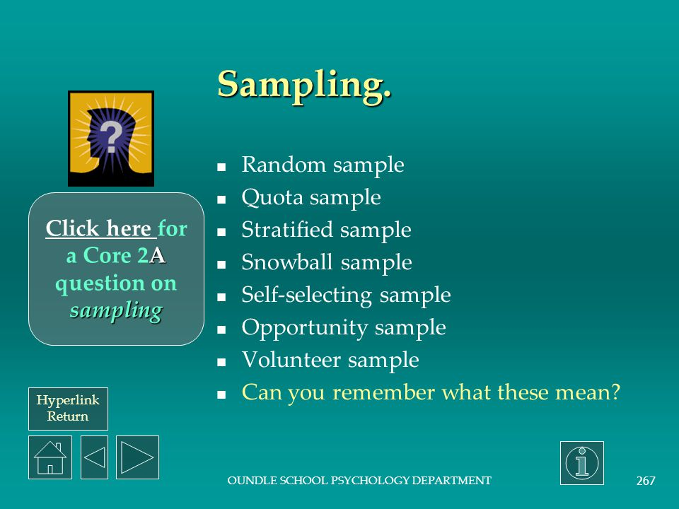 Click here for a Core 2A question on sampling