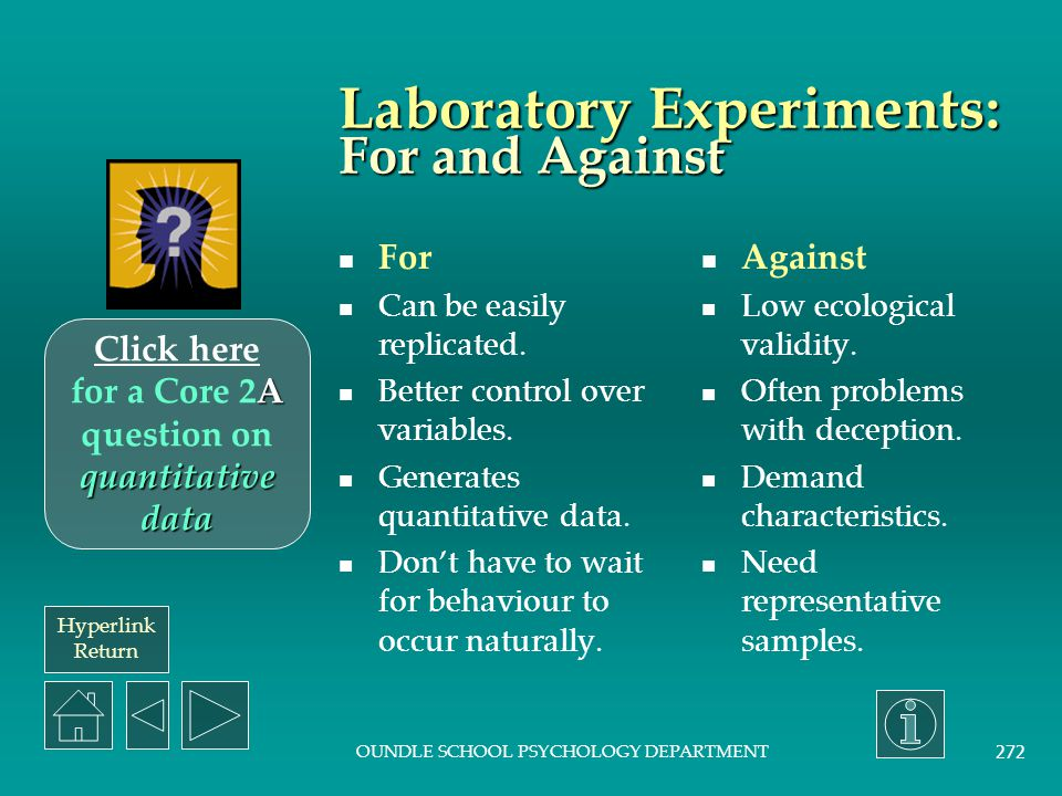 Laboratory Experiments: For and Against