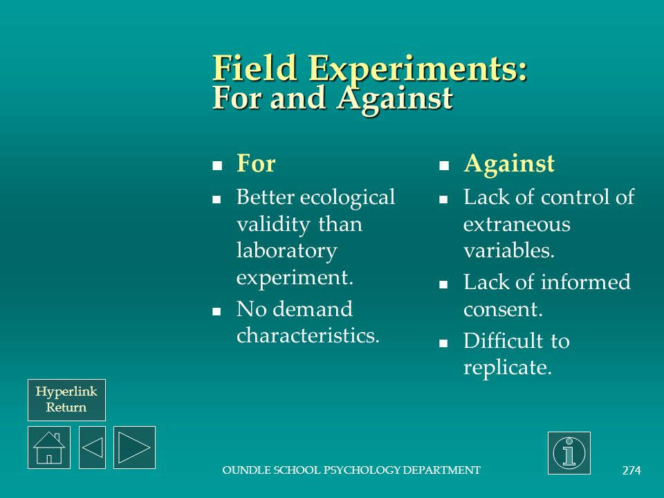 Field Experiments: For and Against