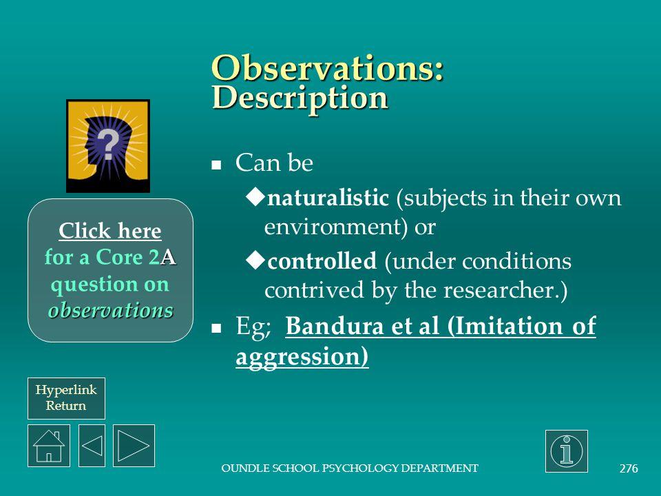 Observations: Description