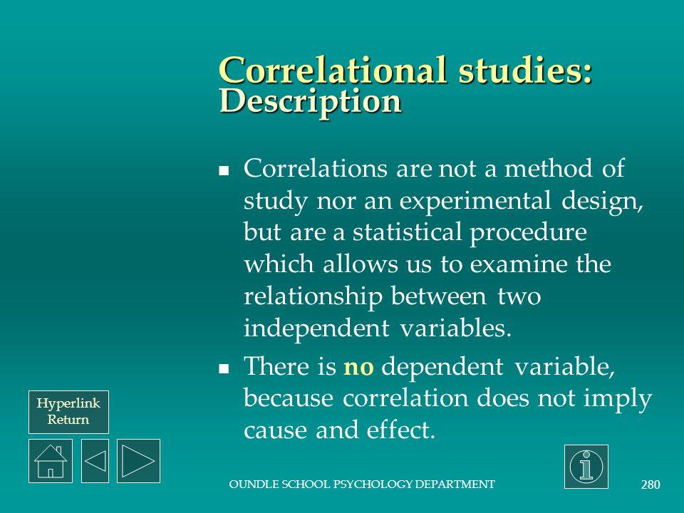 Correlational studies: Description