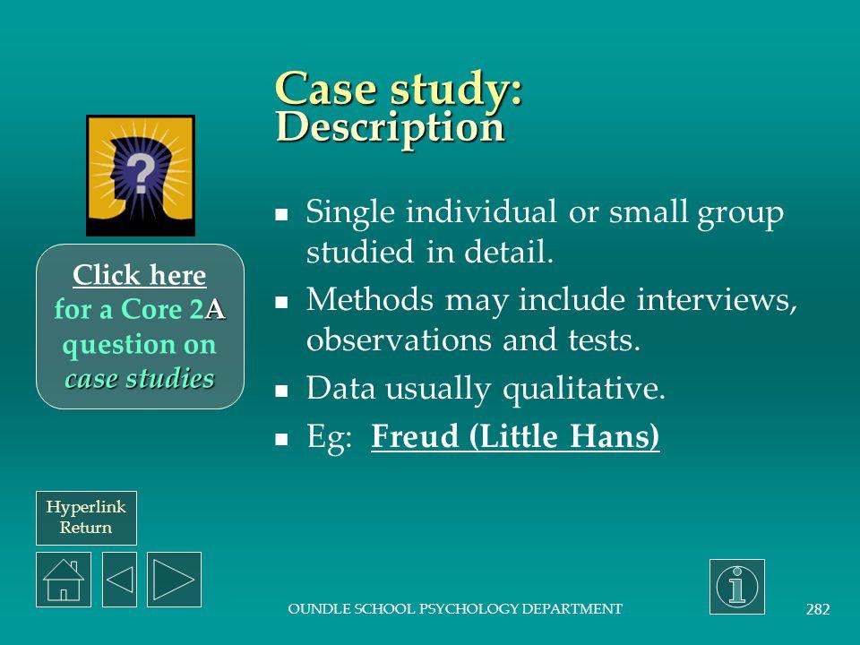 Case study: Description