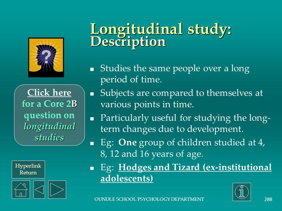Longitudinal study: Description