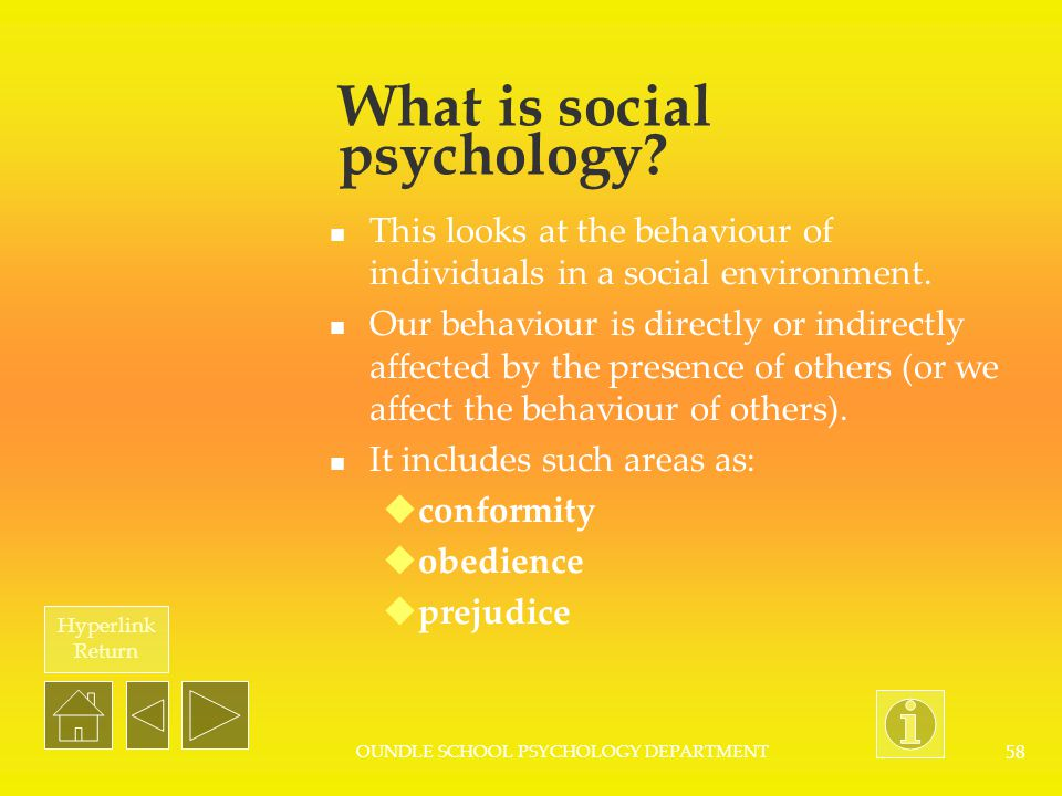 What is social psychology