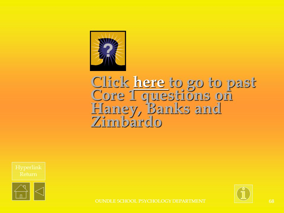 Click here to go to past Core 1 questions on Haney, Banks and Zimbardo