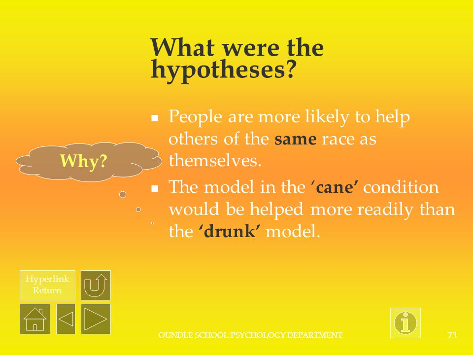 What were the hypotheses