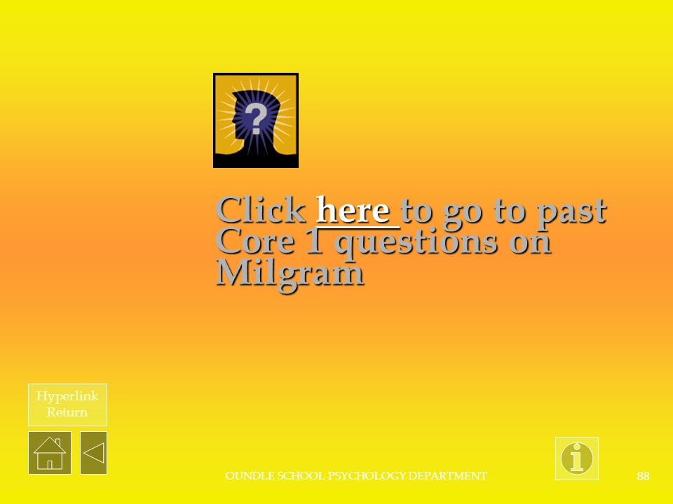 Click here to go to past Core 1 questions on Milgram