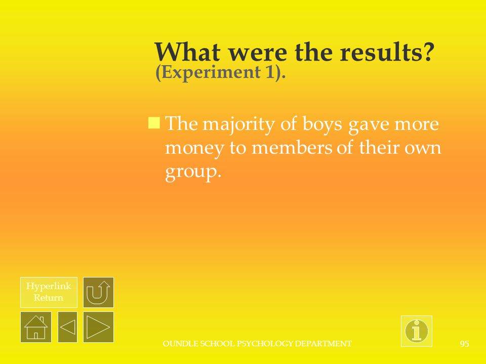 What were the results (Experiment 1).