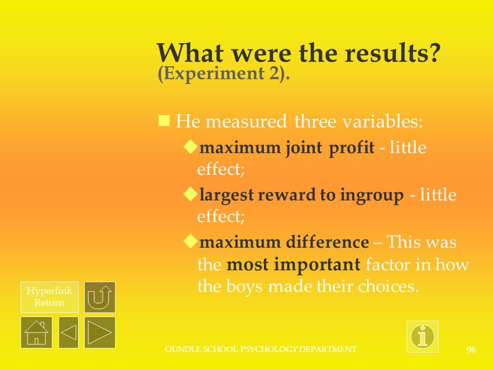 What were the results (Experiment 2).