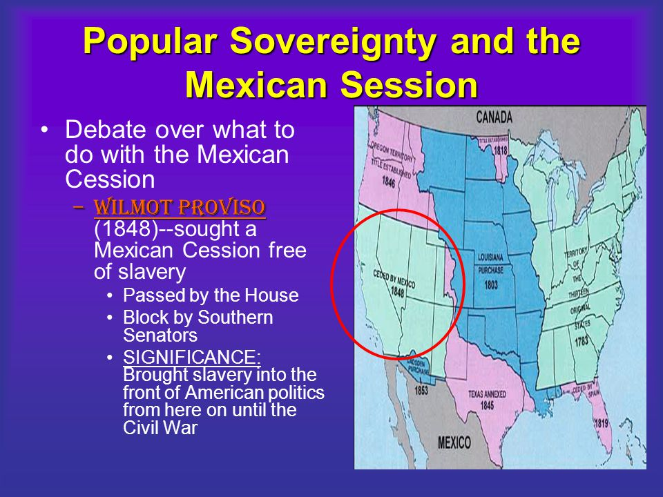 Popular Sovereignty and the Mexican Session