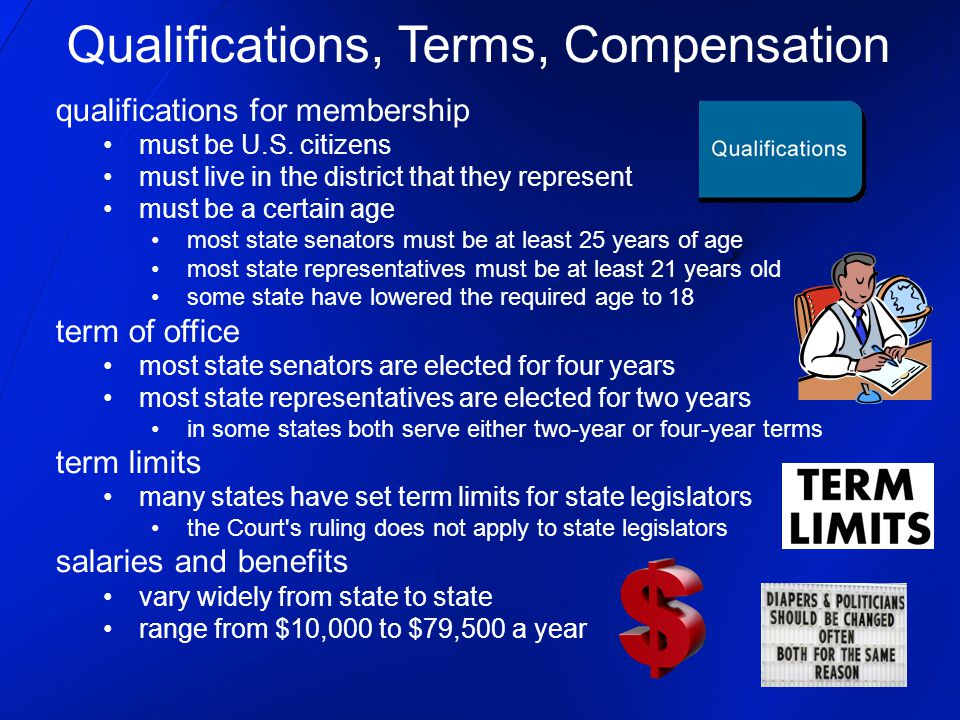 Qualifications, Terms, Compensation