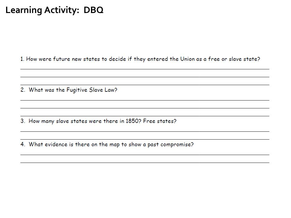 Learning Activity: DBQ
