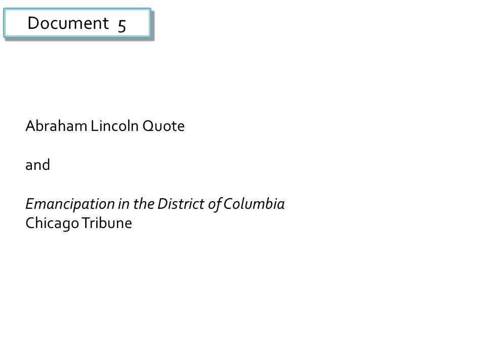 Document 5 Abraham Lincoln Quote and