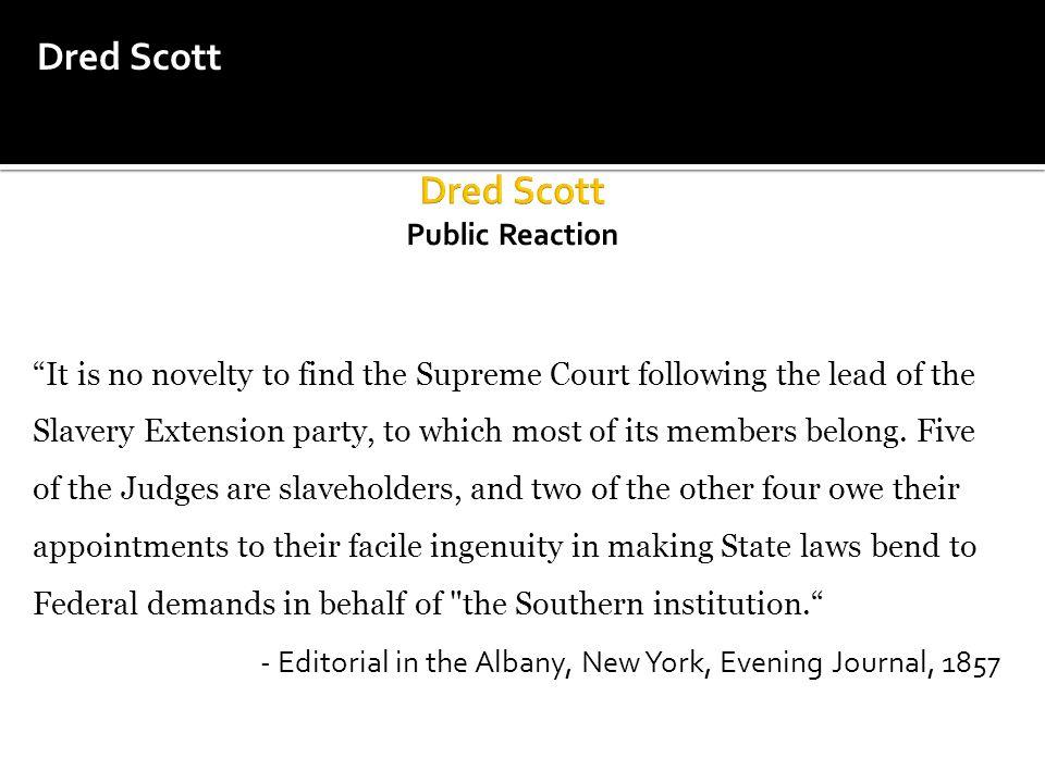 Dred Scott Public Reaction