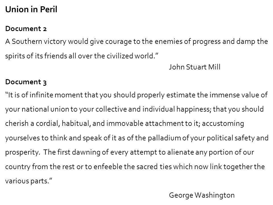 Union in Peril Document 2