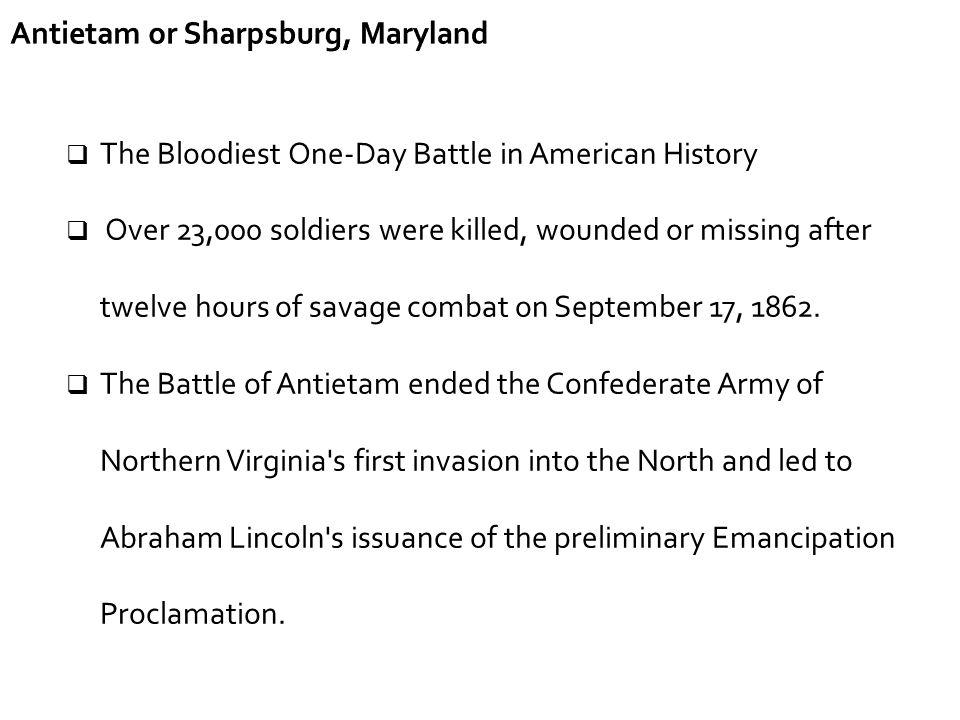 Antietam or Sharpsburg, Maryland